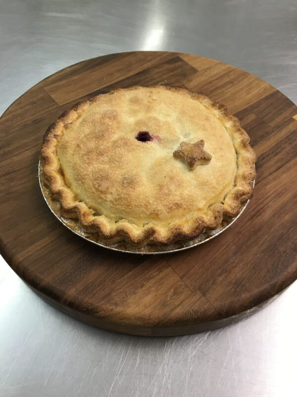 Bramley Apple and Blackcurrant Pie