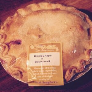 Family Sized Apple and Blackcurrant Pie